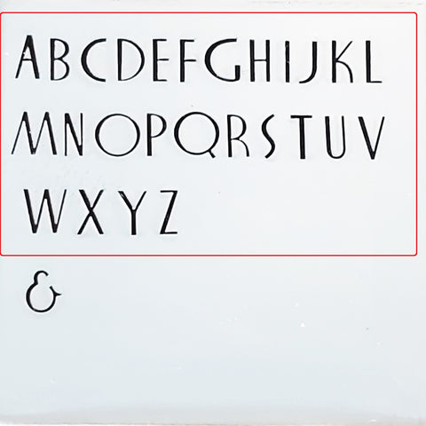 Nocturne Book - 2.5mm Uppercase