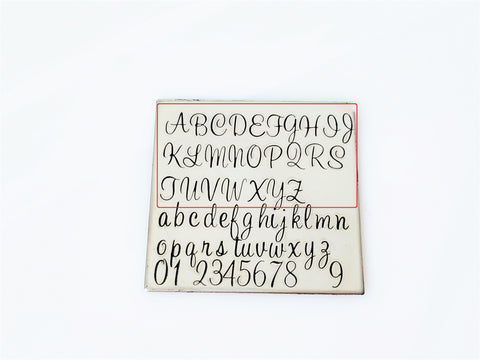 Sweetheart Script - 4mm Uppercase