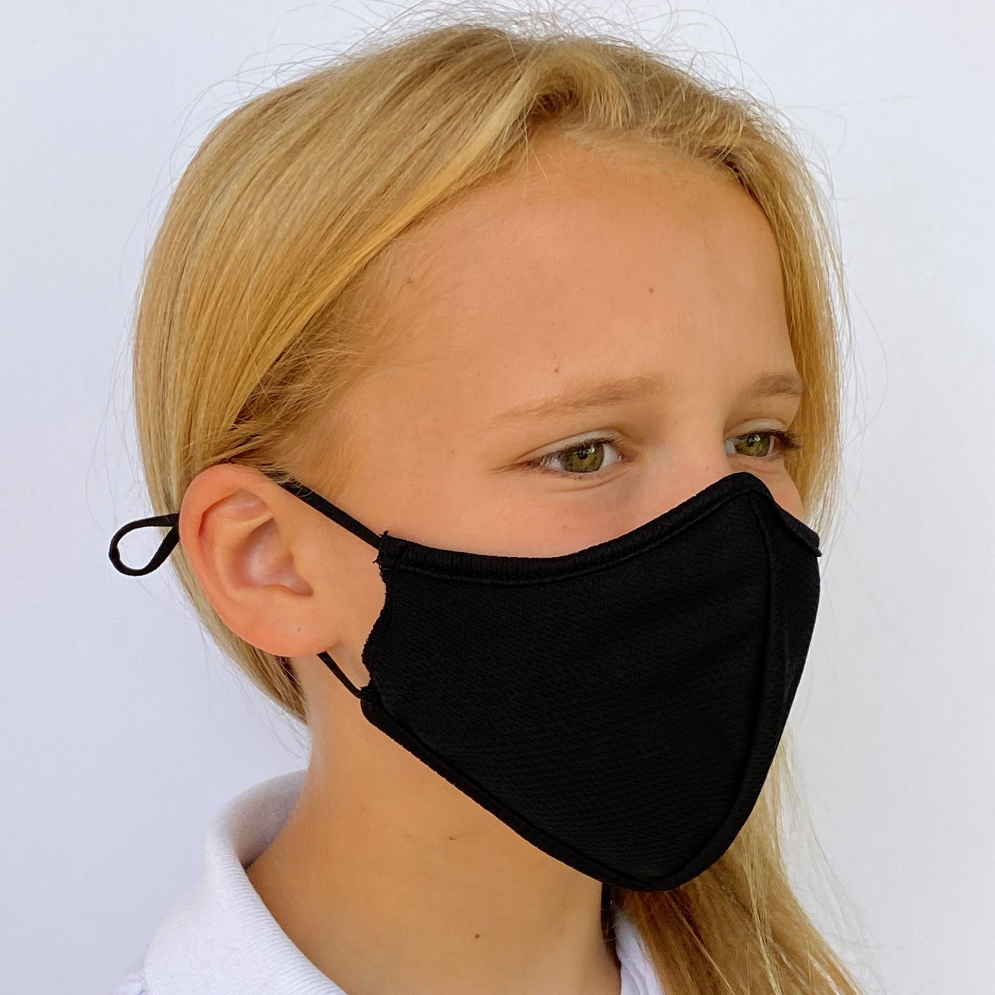 Children's 3 Layer Face Mask - Black