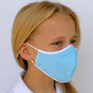 Children's 3 Layer Face Mask -  Blue