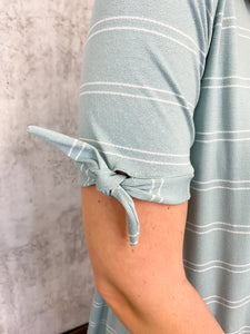 Double Stripe Sage Top