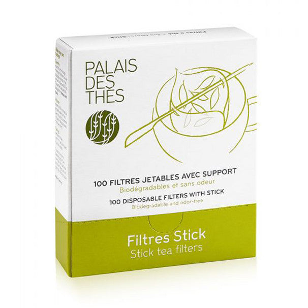 Palais Des ThesSmall Paper Filters with Stick 100 bags