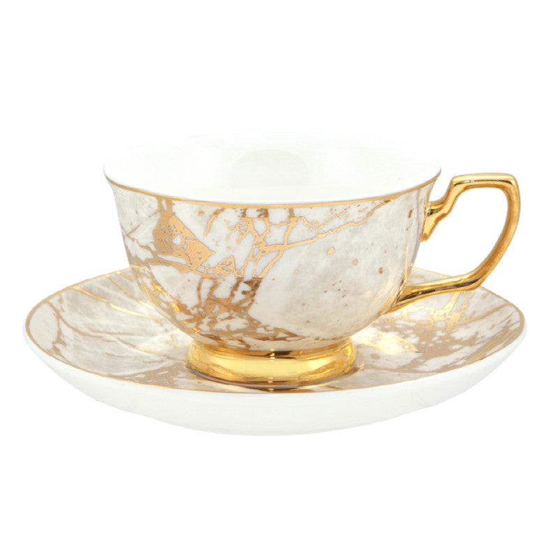 Teacup White Marble Tea cup & Saucer