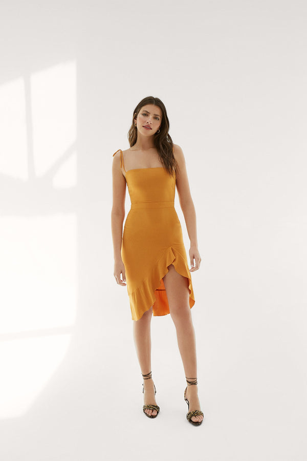 Rocío mustard dress