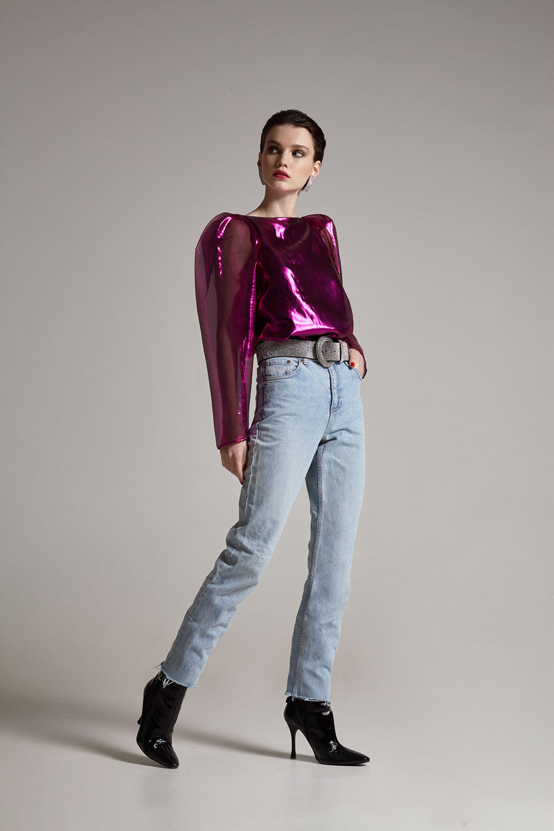 Stella purple lurex top