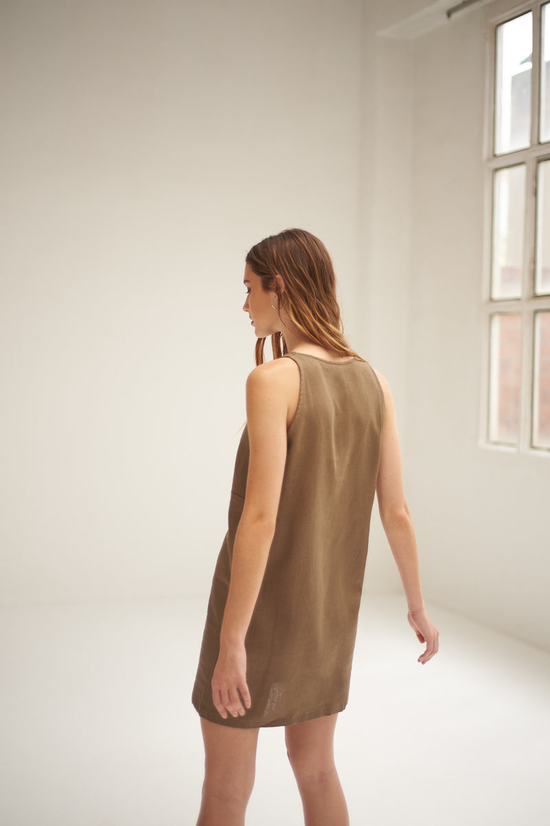 Martina taupe dress