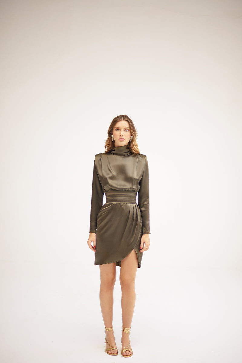 Freya Khaki Dress