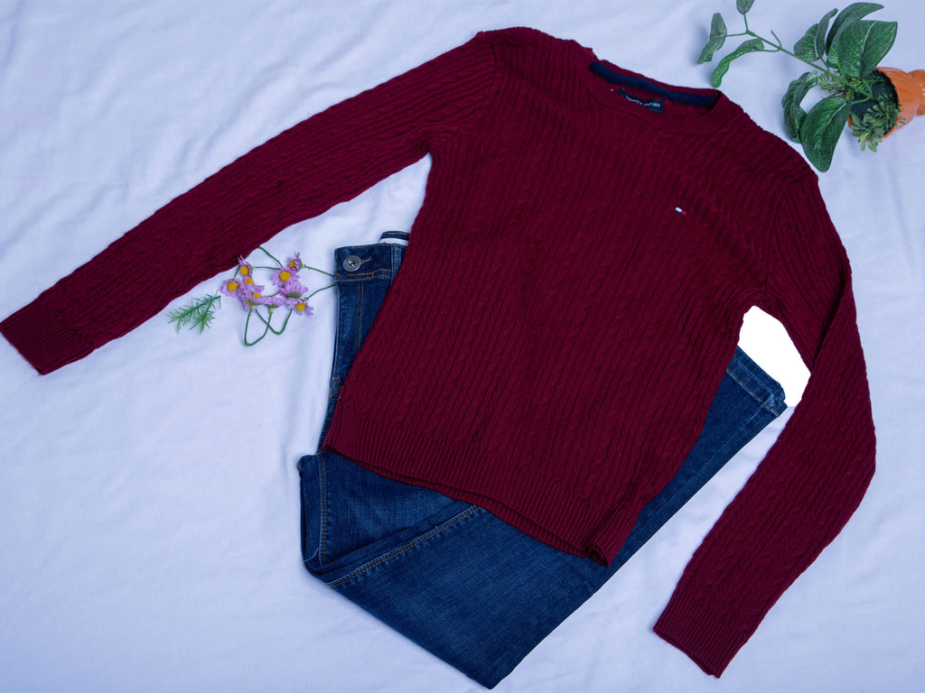 Pull simple Bordeaux