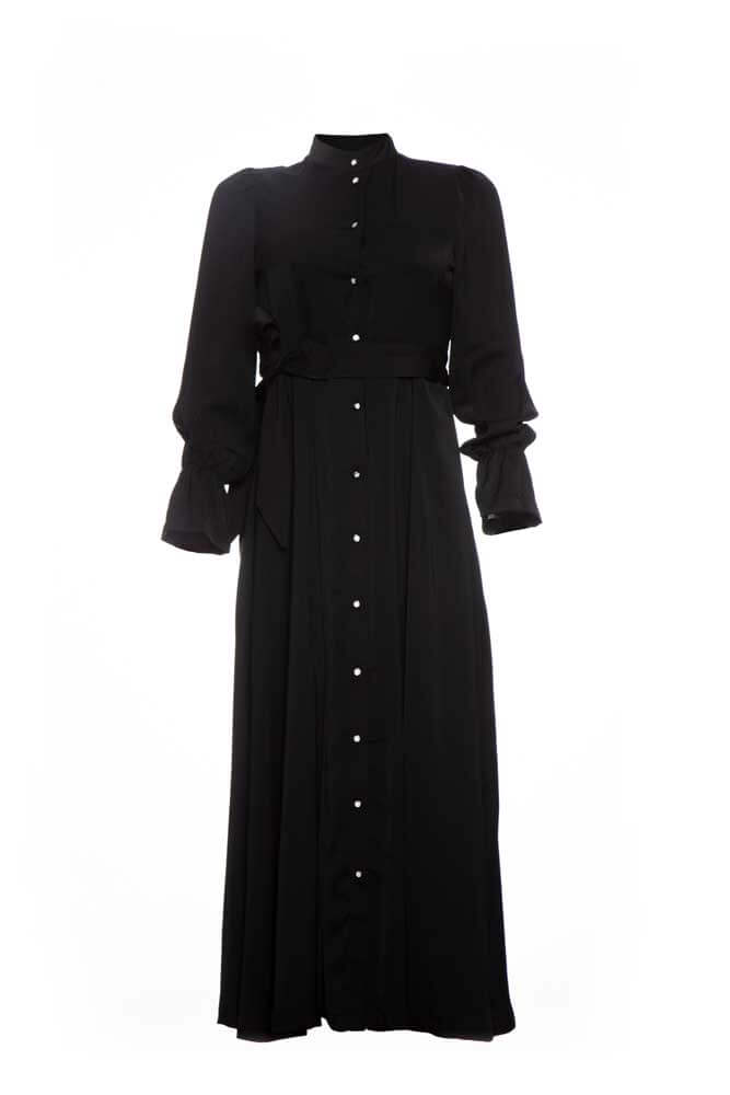 ROBE NOIR LOUNGUE BOTON