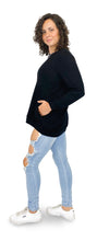 Load image into Gallery viewer, Midnight Black Long Sleeve Pullover - Style Adix