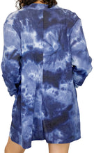 Load image into Gallery viewer, Blue Tie-Dye Waffle Thermal Top - Style Adix