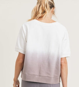 Dusty Pink Ombre Top - Style Adix