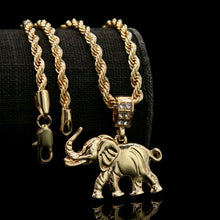 Load image into Gallery viewer, 18k Gold Plated Elephant Pendant - Style Adix