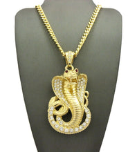 Load image into Gallery viewer, 18K Cobra Red Eye Pendant - Style Adix