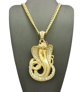 18K Cobra Red Eye Pendant - Style Adix