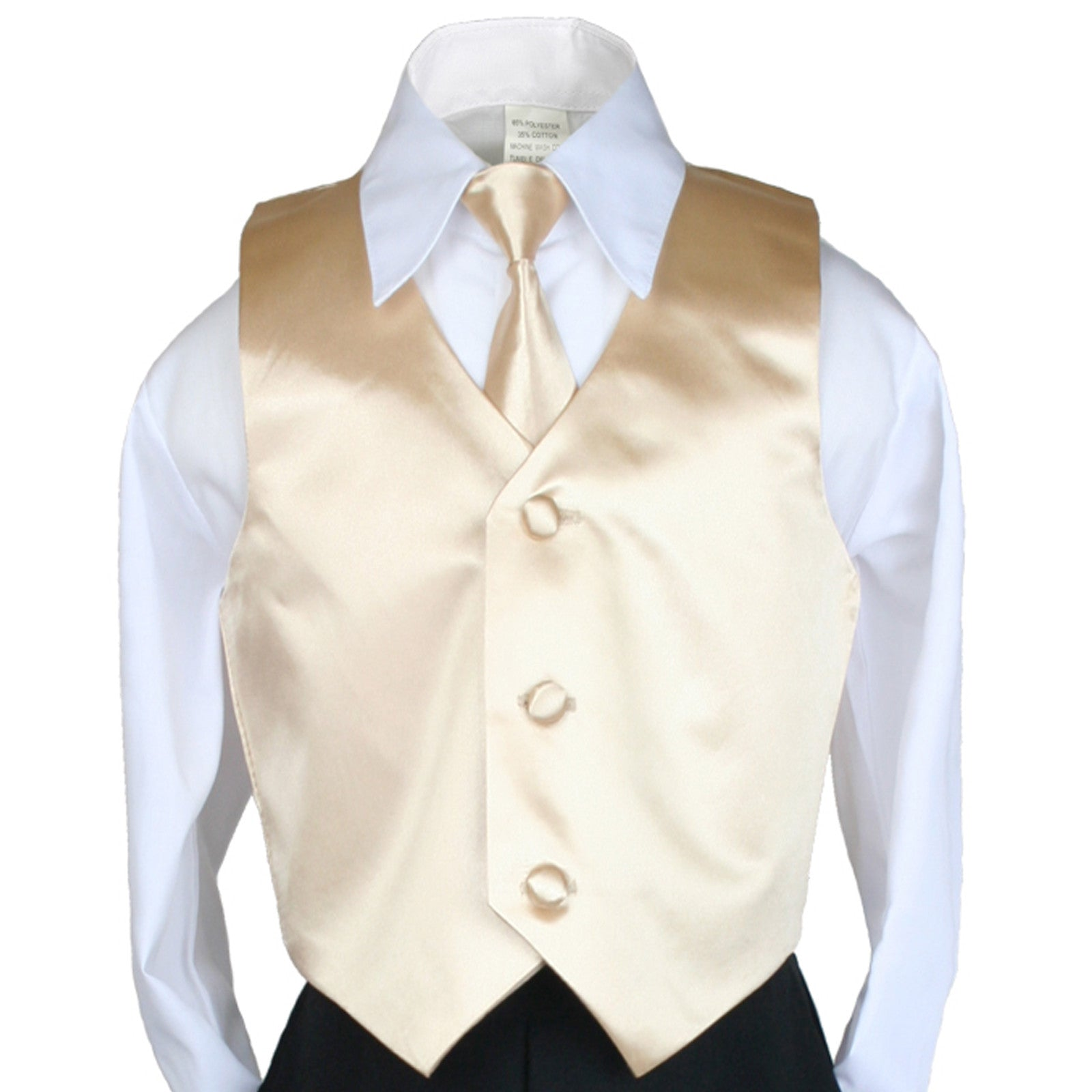 Unotux 6pc Boys Suit with Satin Orange Necktie from Baby to Teen