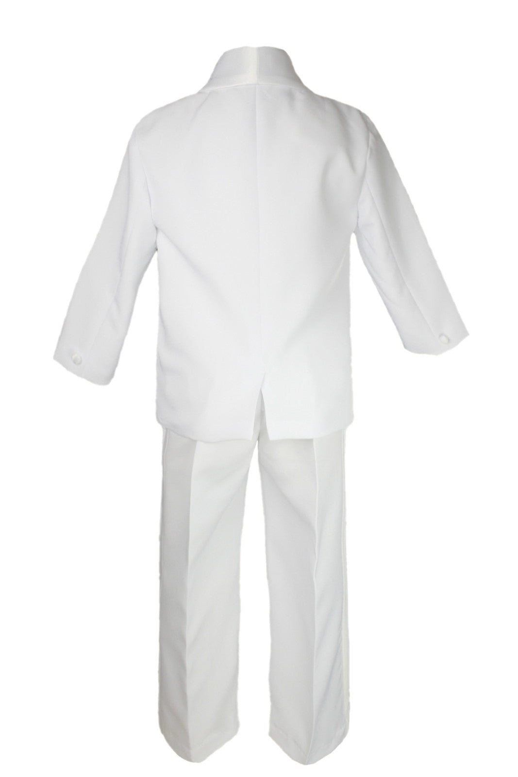 Baby Boy Baptism Formal White Suit Silver Virgin Mary on Stole /& Back Sm-20
