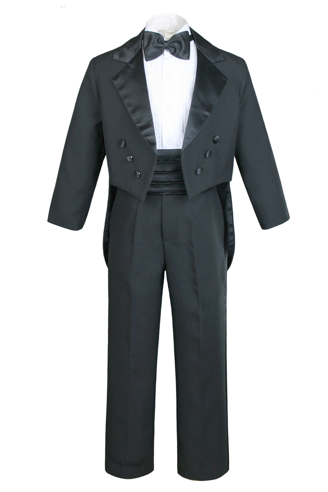 Unotux 6pc Baby Toddler Boy Teen Formal Party Suit w//Satin Bow tie Medium Gray Sm-20