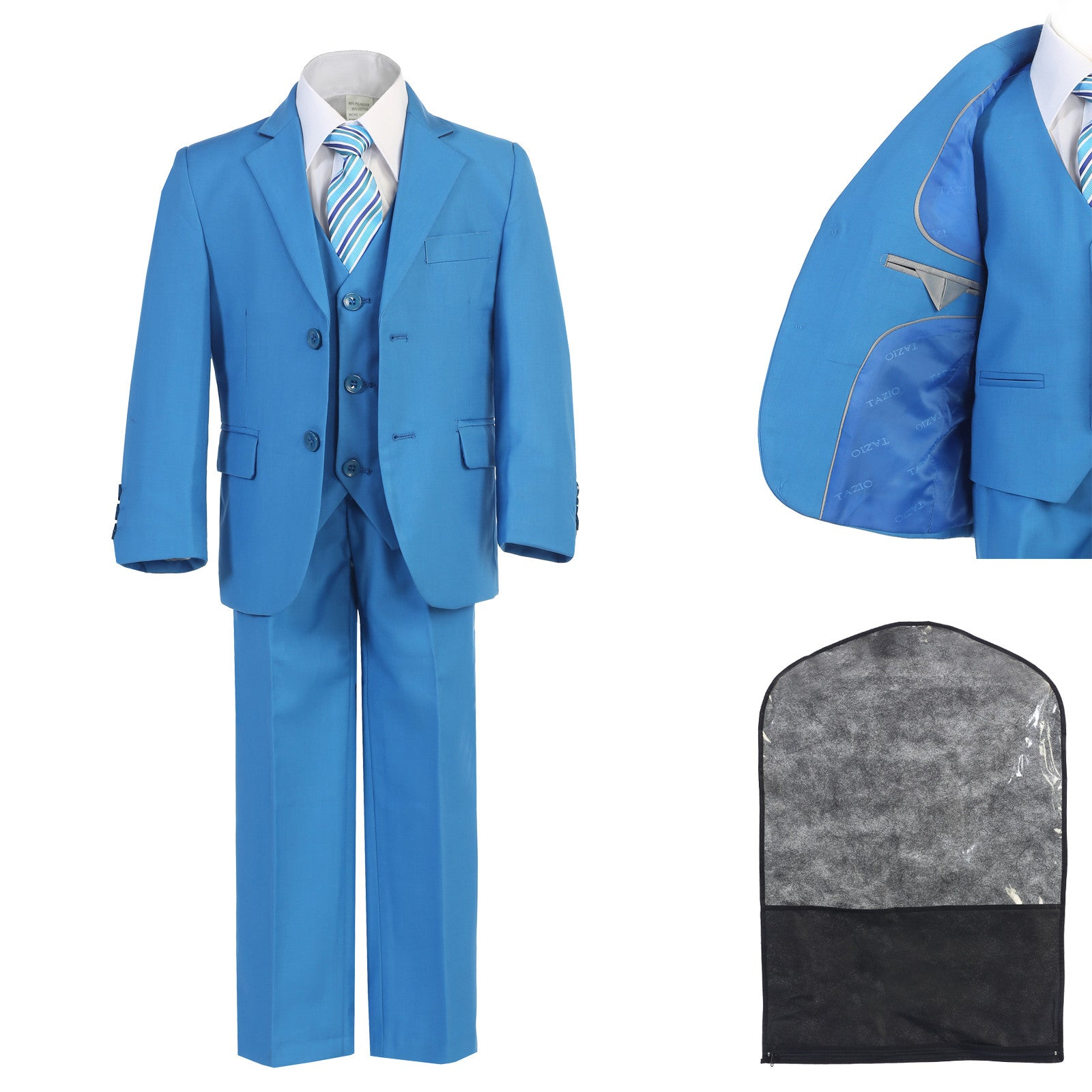 Unotux French Blue Boys Suits