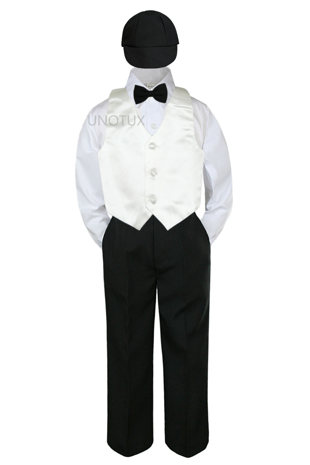 e54eab89f500 White Shirt Black Pants Bow Tie – DACC