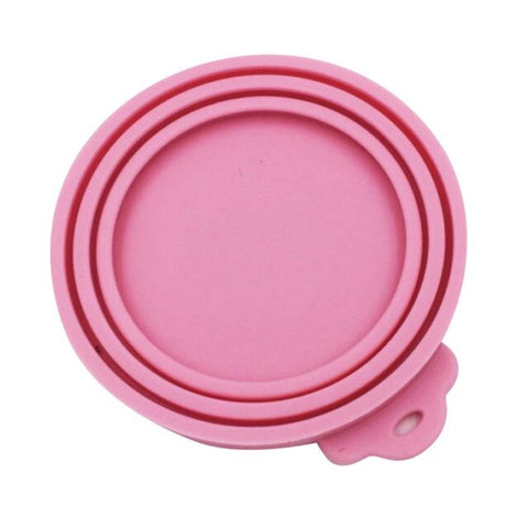 Pet  Food Can Seal Silicone Canned Lid Cover Sealed Feeder Dog Cat Storage Top Cap Reusable Cover Lid Health Pet Daily Supplies