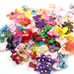 20Pcs Mixed Hair Bows Rubber Bands Candy colors Fashion Cute Dog Puppy Cat Kitten Pet Toy Kid Bow Tie Necktie Clothes decoration