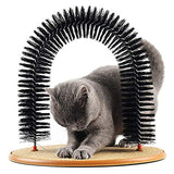 Comfortable Arch Cats Massager Pet Cat Itching Grooming Supplies  Round Fleece Base Kitten Toy Scratching Device Brush for Pets