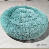 Super Soft Donut Dog Bed Washable Long Plushcat Cat Dog House Deep Sleep House Round Cushion Mats Sofa Basket Dog Supplies