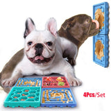 Silicone Dog Feeding Lick Mat Pet Dog Feeding Food Bowls Puppy Slow Down Eating Feeder Dish Bowel Prevent Obesity Dogs Supplies