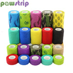 pawstrip 1 Roll Dog Bandage Medical Elastic Bandage Pet Vet Wrap Waterproof Self Adherent Accessories(1, 2, 3 or 4 Inches Width)