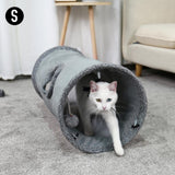S Shape Pet Cat Tunnel 2 Holes Funny Kitten Animals Play Tunnel Tube Collapsible Training Toy For Dog Cat Rabbit Ferrets Pet Toy