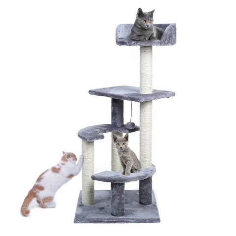 Domestic Delivery Cat's Tree Tower Pets Play Tree Scratching Tree arbre a chat  Climbing Jumping Toy Frame Pets rascador gato