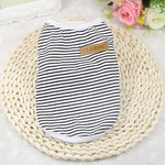 Summer Pet Dog Clothes Cotton Striped Vest t shirt Dog Clothing for Dogs Puppy Outfit shirt Small Pet chihuahua Clothes 20