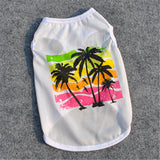 Summer beach Style puppy dog t shirt 2018 new arrival cheap breathable cotton Pet dog Clothes for small dog vest