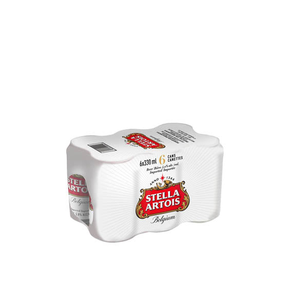 Stella Artois 6 pack. Lata 473ml