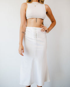 Not So Basic White Midi Skirt