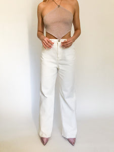 Ziggy White Denim Bottoms