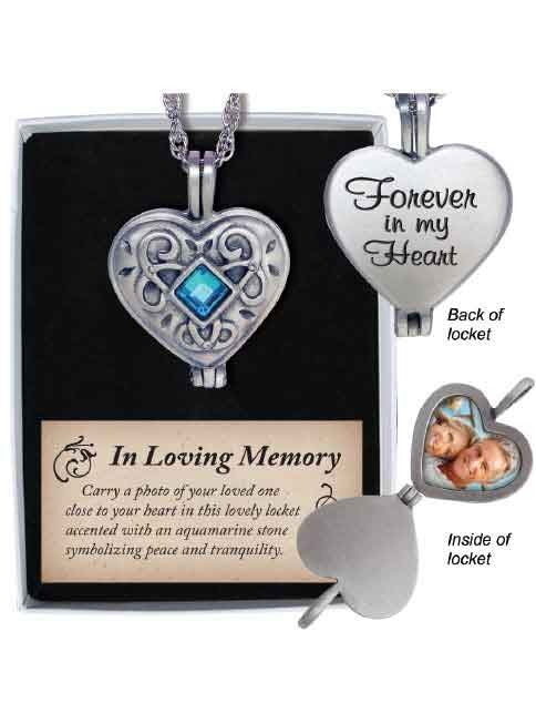 MEMORIAL LOCKET - FOREVER IN MY HEART