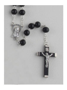 WOOD ROSARY BEADS BLACK