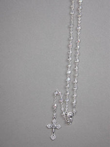 CRYSTAL ROSARY BEADS 4MM - CRYSTAL