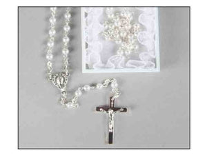 MY FIRST ROSARY WHITE BEADS