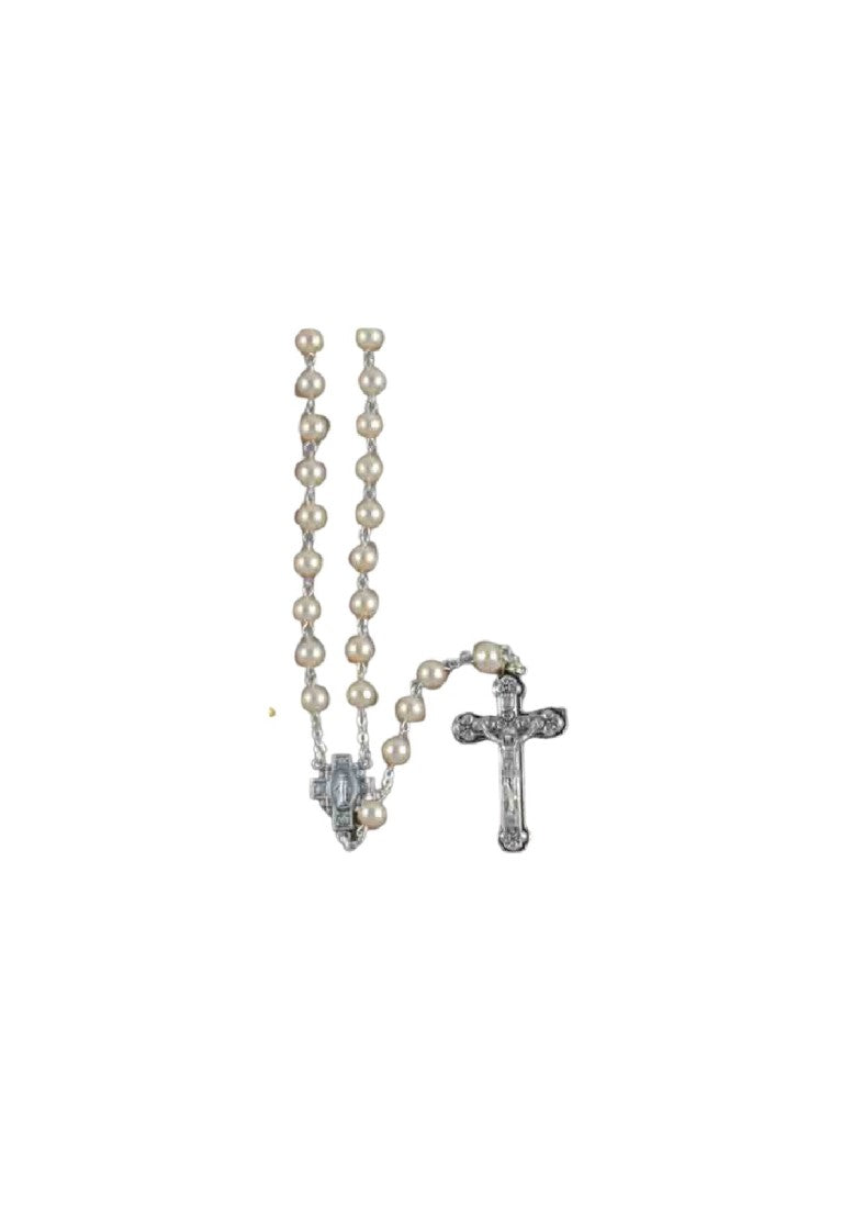PEARL 7MM ROSARY BEADS PEARL 7MM - WHITE