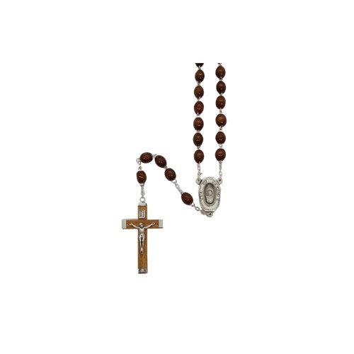 ROSARY BEADS WOOD LOURDES WATER
