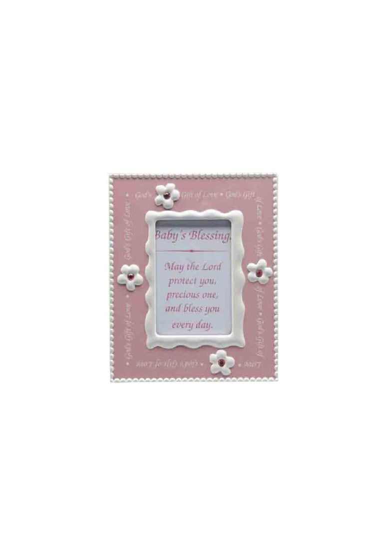 BABY PHOTO FRAME GIRL 52 X 74 mm