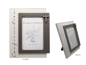 COMMUNION FRAME WITH MOTIF - PHOTO SIZE 6 X 4