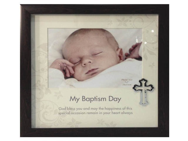 WOOD FRAME - 5 X 7 MY BAPTISM DAY