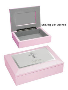 MEMORIES BOX - BAPTISM PINK SIZE: 180 X 130 X 40mm