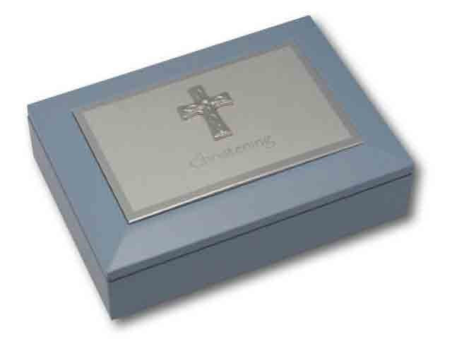 MEMORIES BOX - CHRISTENING BLUE SIZE: 180 X 130 X 40mm