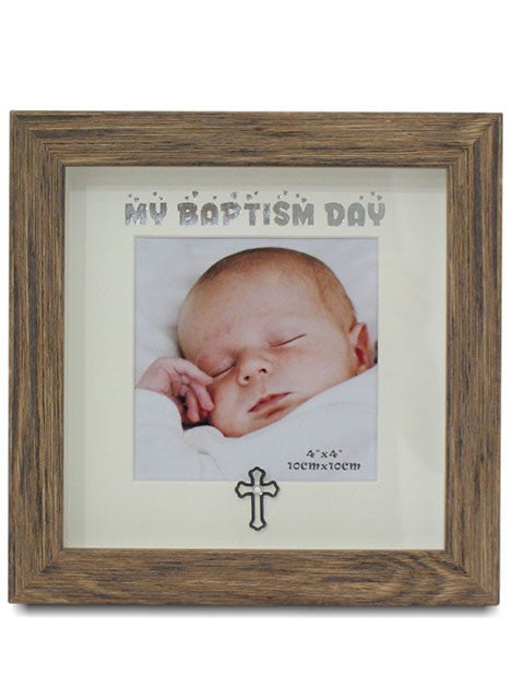 "BAPTISM 4 X 4"" TIMBER LOOK FRAME SIZE: 100 X 100MM"