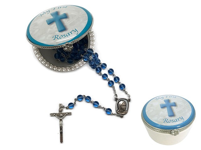 BABY ROSARY BEADS - BLUE